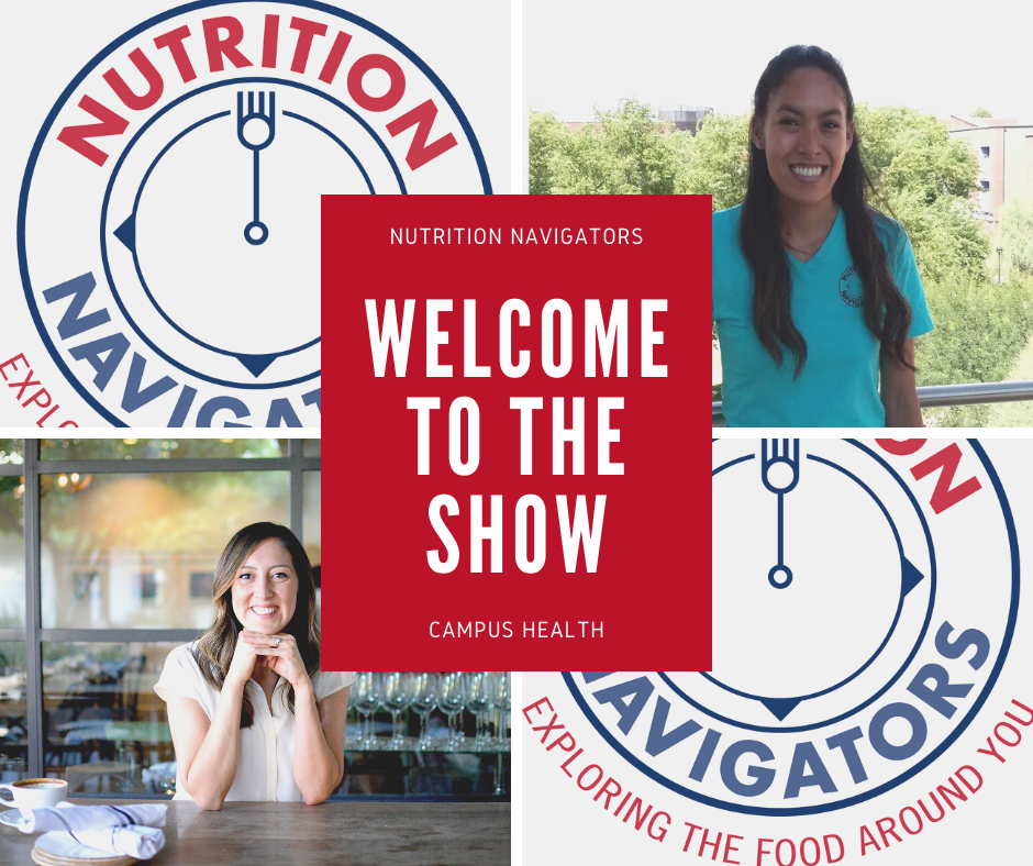 Welcome to the show, picture of Ashley and Kayla and Nutrition Navigators Logo