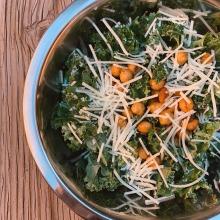 Kale Caesar Salad with Chickpeas image